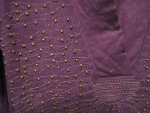 DD Cups Purple Studded Fabric