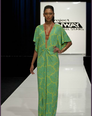 Michael Costello Project Runway Green Dress