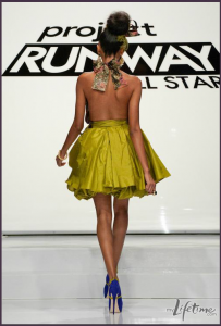 Michael Costello Project Runway Yellow Dress
