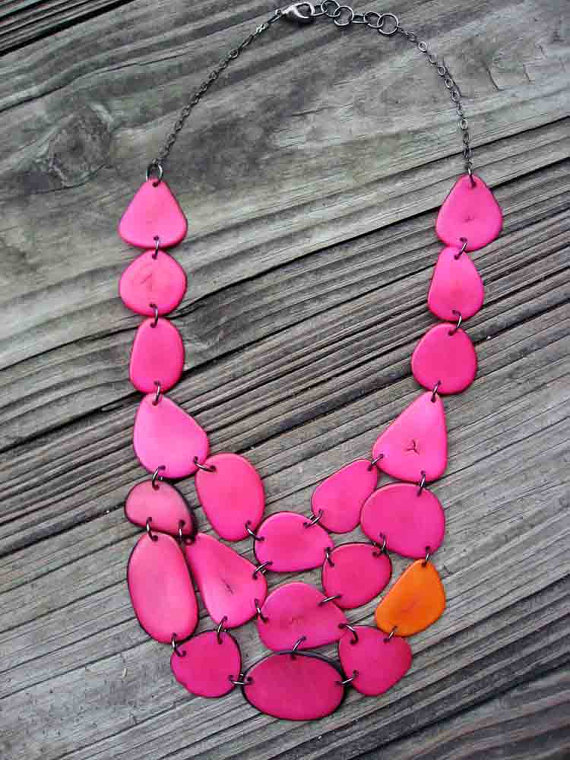 etsy necklace great for moving eye from d cup bust