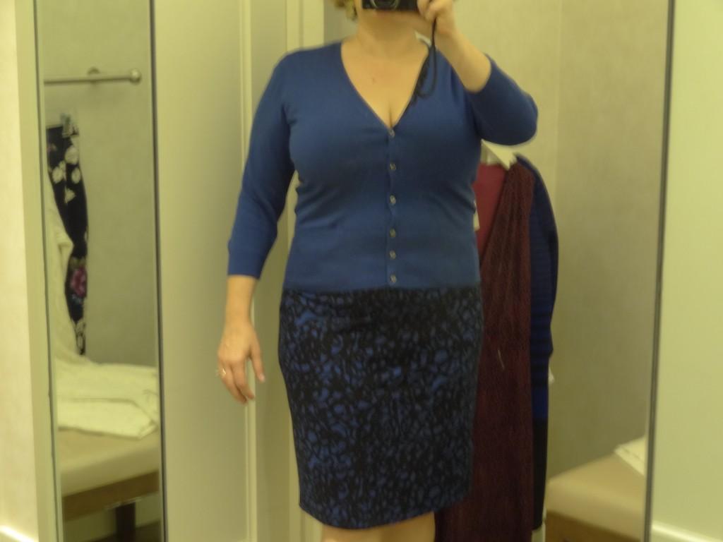 big bust flattering v neck cardigan from ann taylor