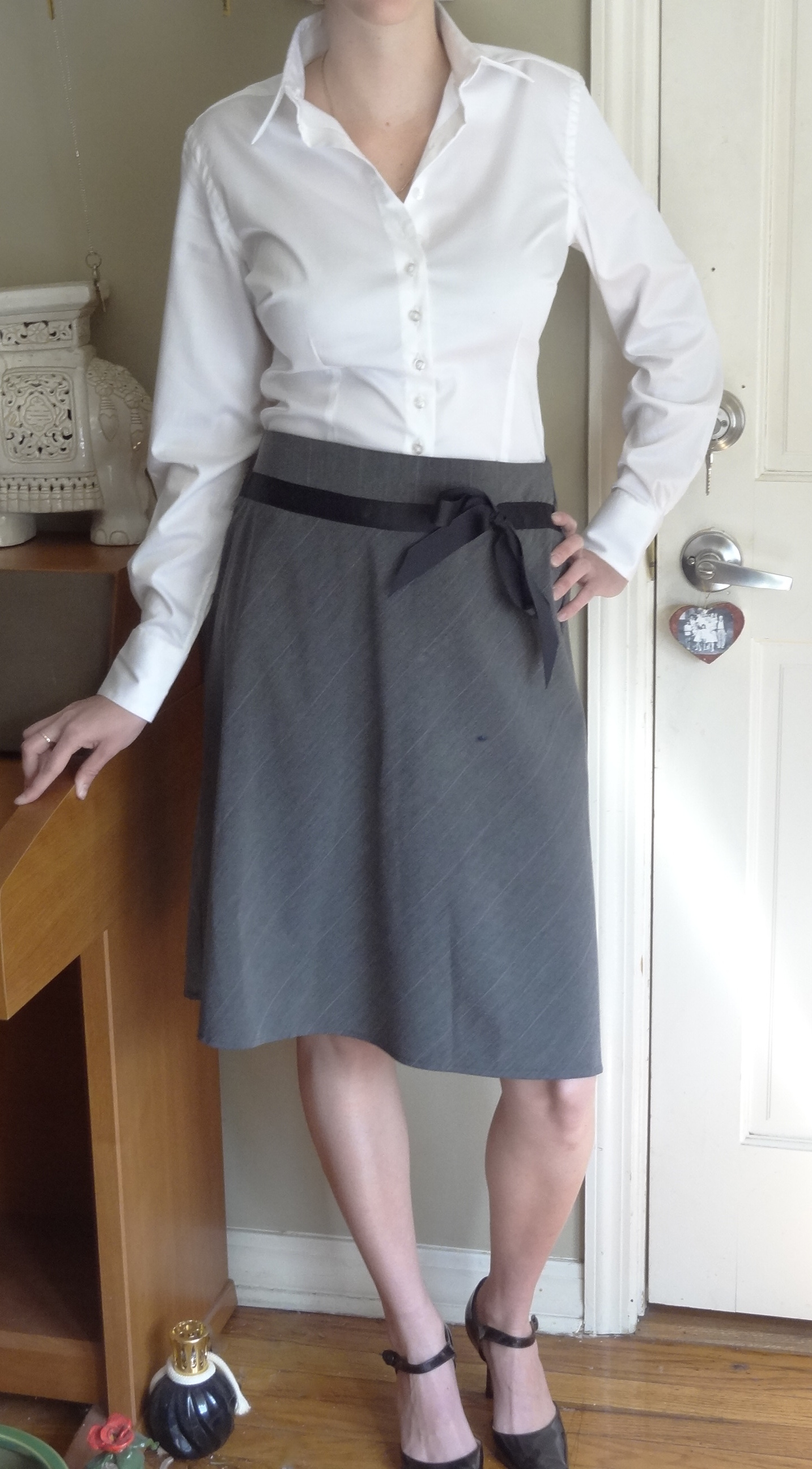 28ff lelaina white shirt grey skirt interview jpg i