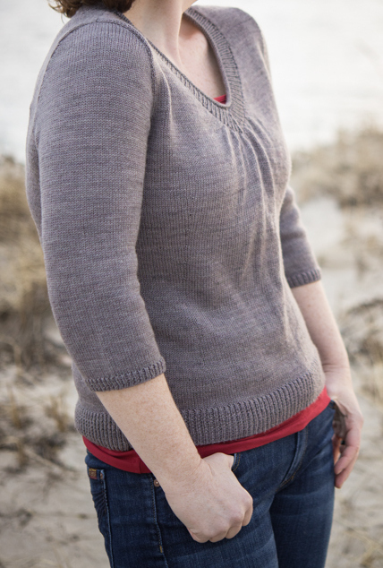boob friendly Afterlight sweater pattern