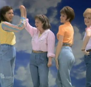 busty matronly mom jeans
