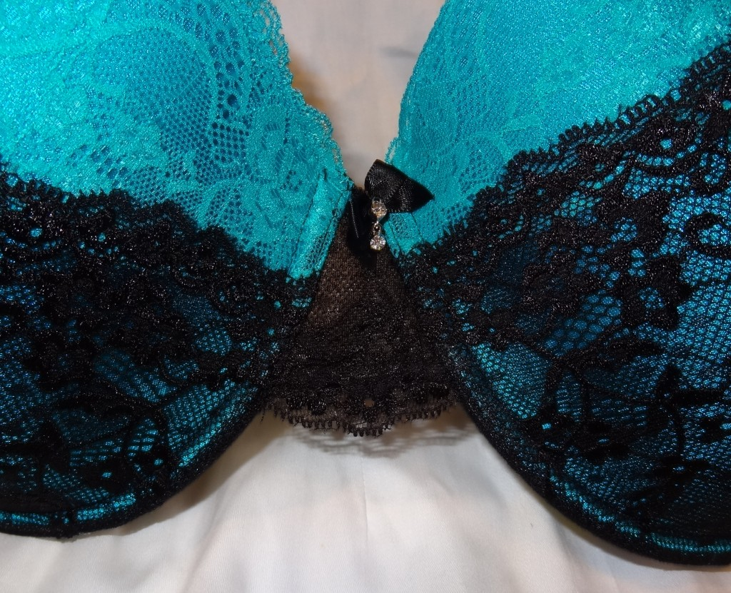 great black lace center gore for big bust bra