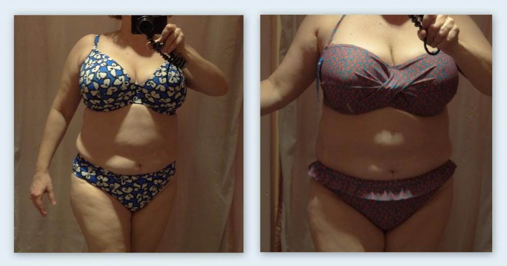 busty in a bikini print and pattern