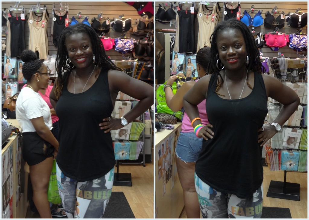 black tanktop before and aft