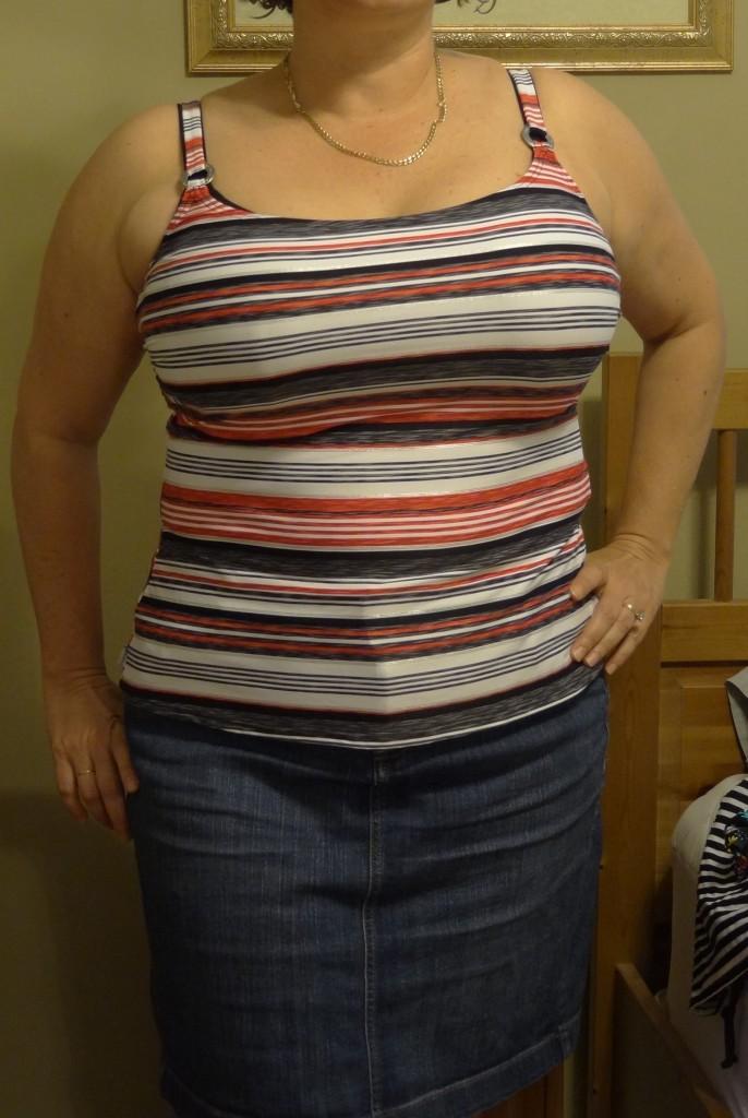 captiva front with denim skirt