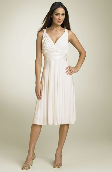 """Suzi Chin """"Pleated Jersey Dress"""" from Nordstrom."""