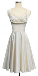 """Honey"" dress in antique white satin from Trashy Diva."
