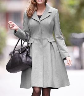 Pepperberry wool blend full skirt coat