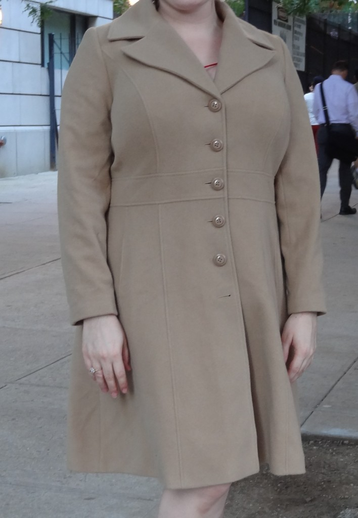 big bust friend in pepperberry coat