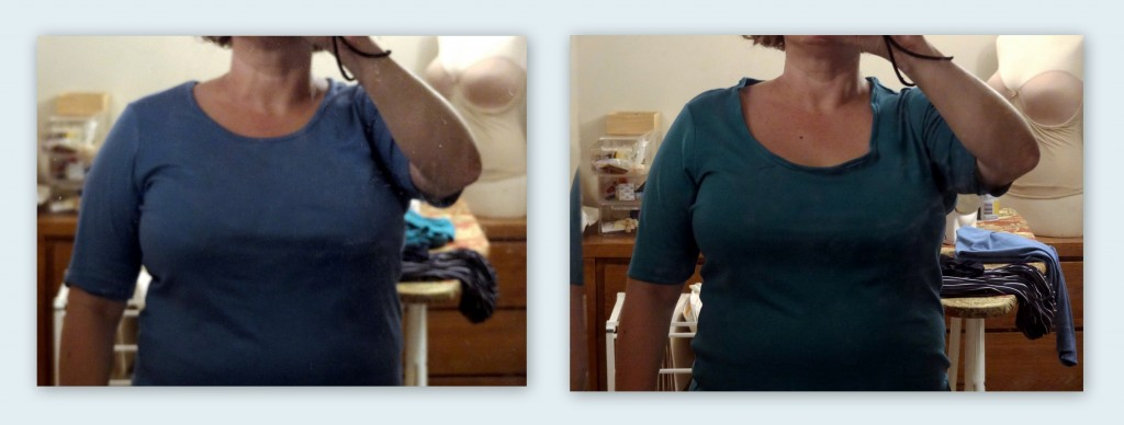 big bust scoop neck alteration comparison