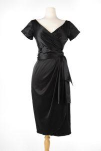 big bust ava dress black