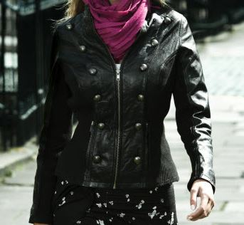 Pepperberry leather jacket.