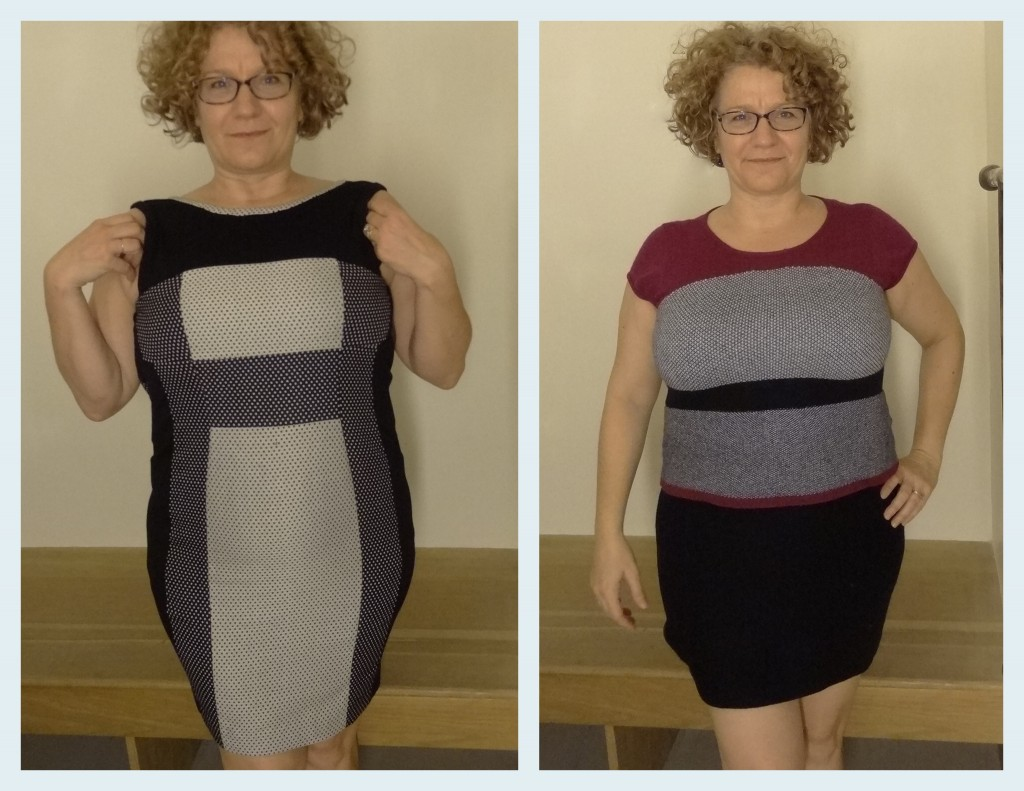 full bust anthropologie color blocking win and fail