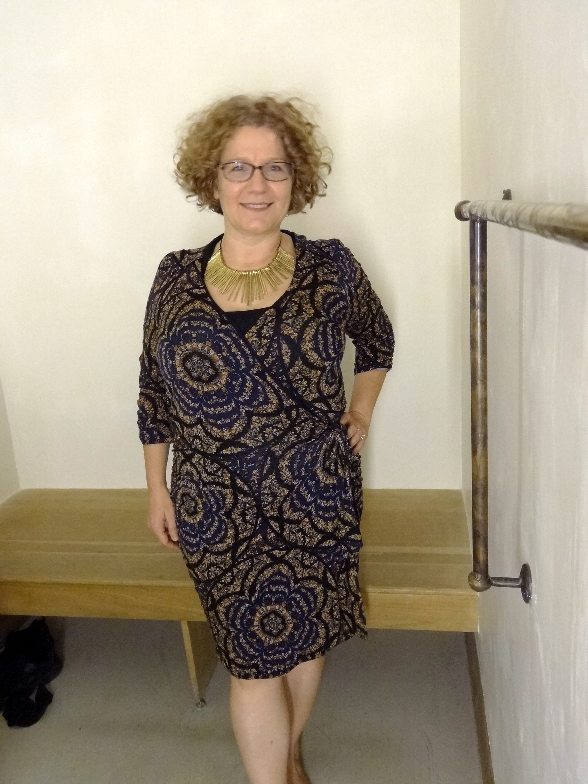 Busty mature in dress