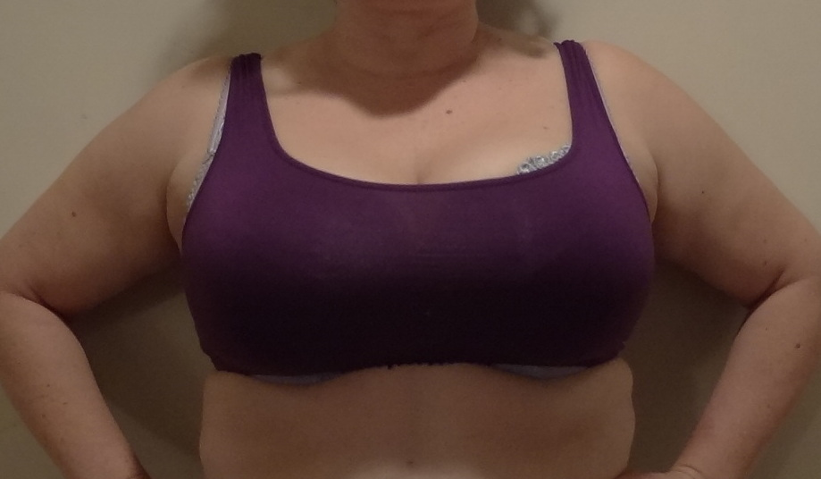 second base XL barely covers bra