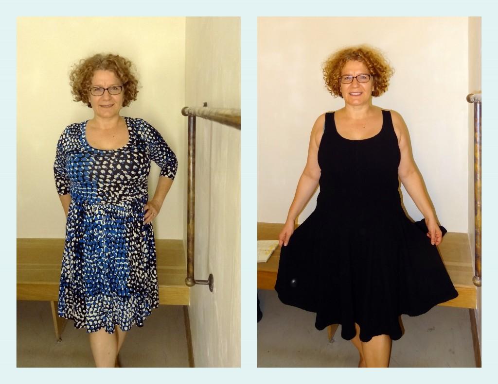 two scoop neck anthro dresses