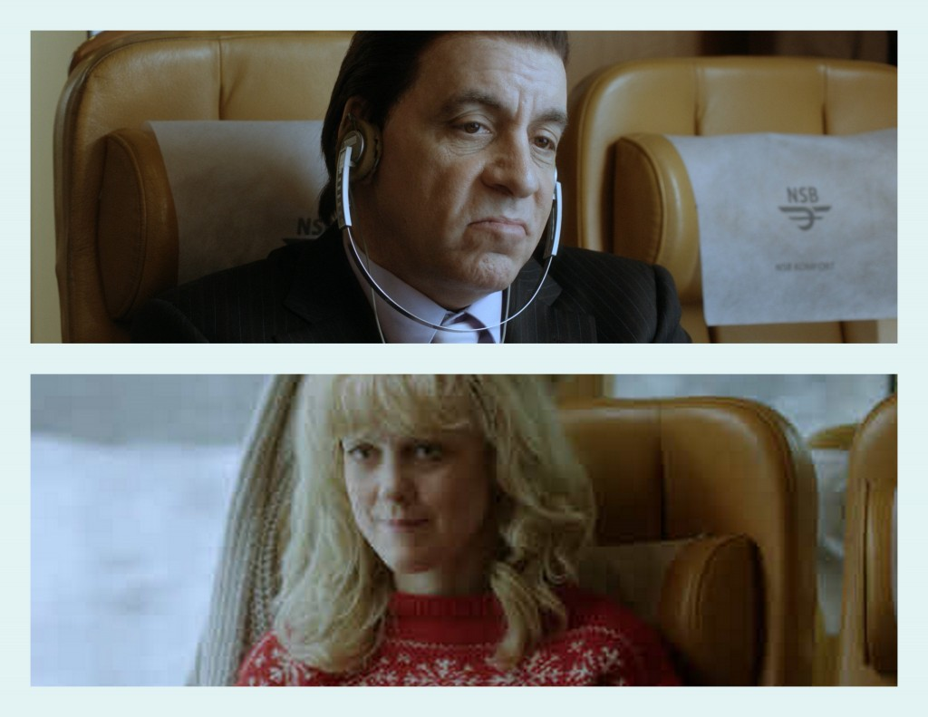 johnny and sigrid on the train