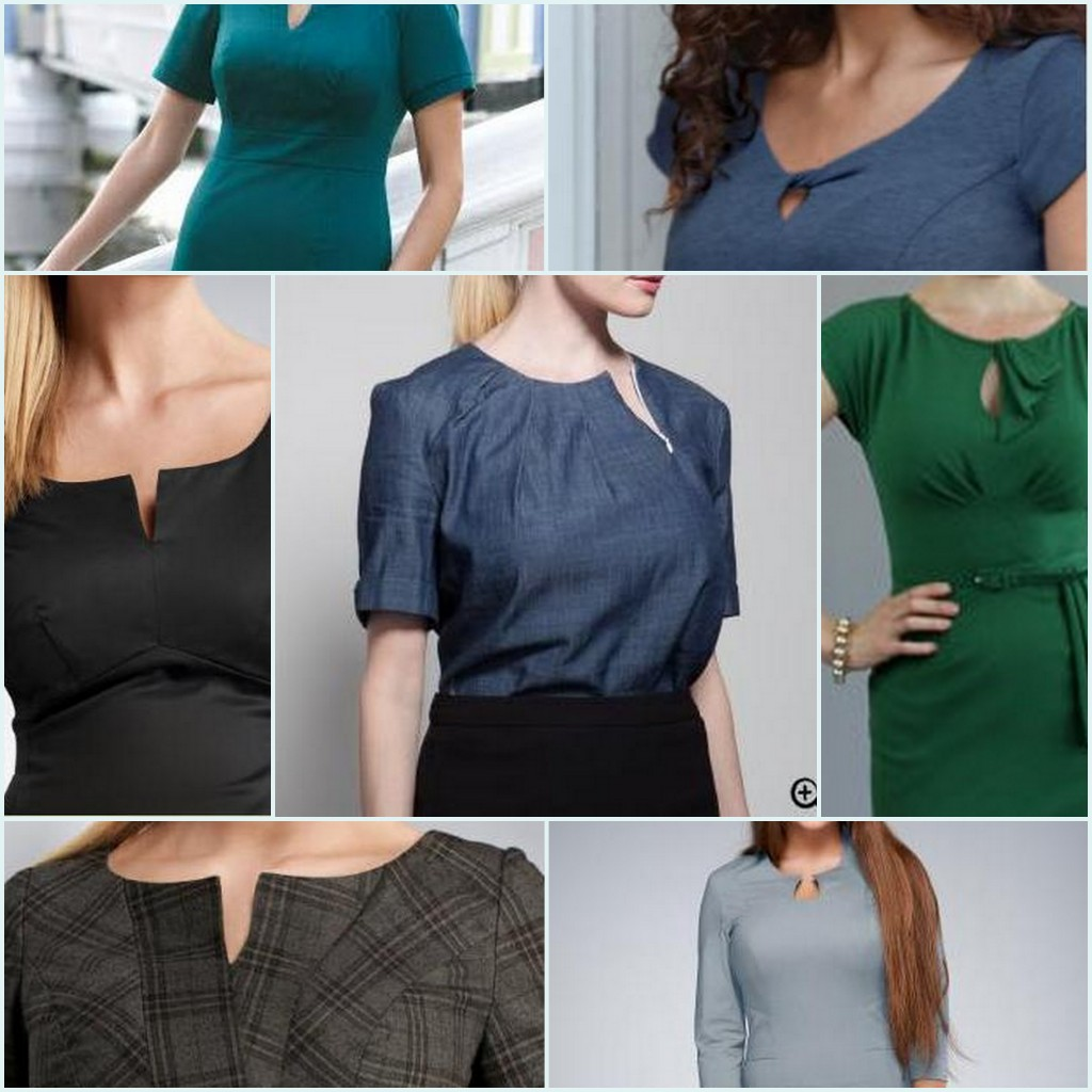keyhole notch necklines for big busts