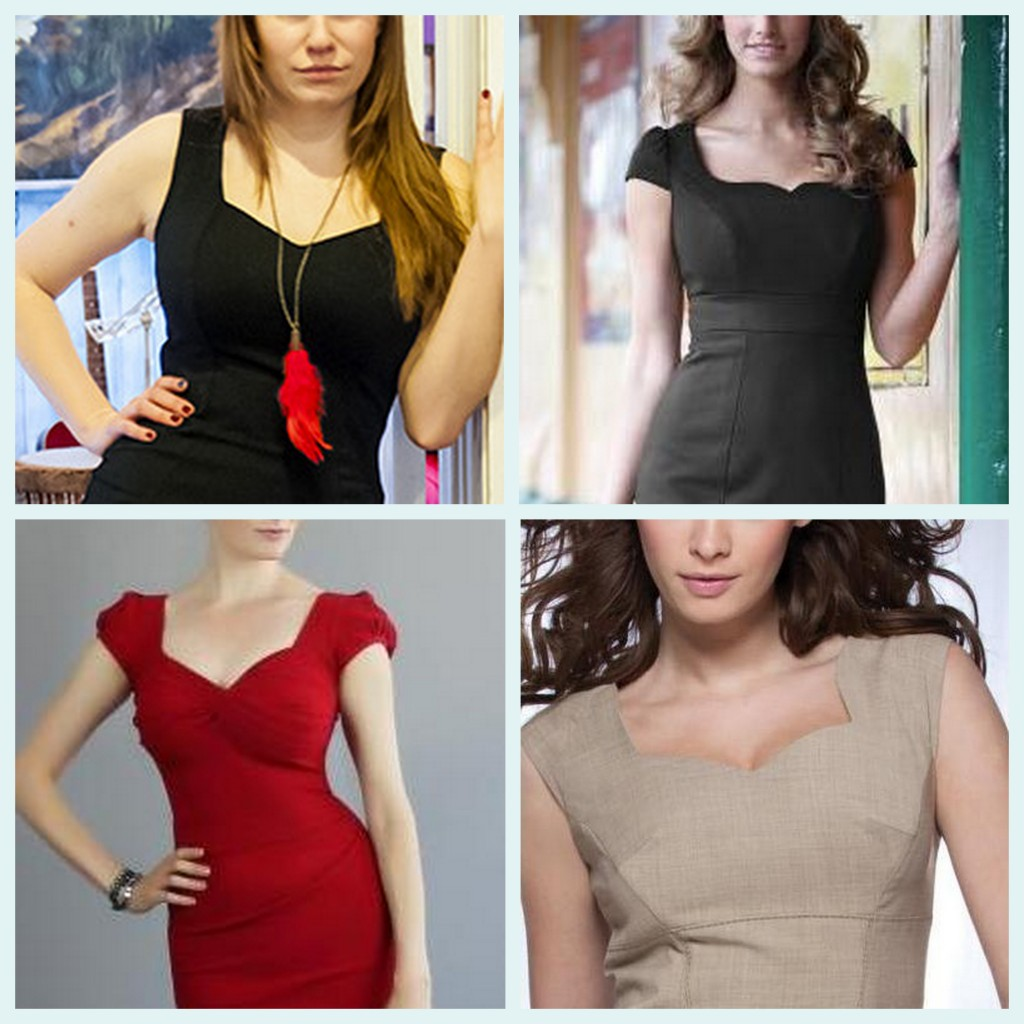 sweetheart necklines for big busts