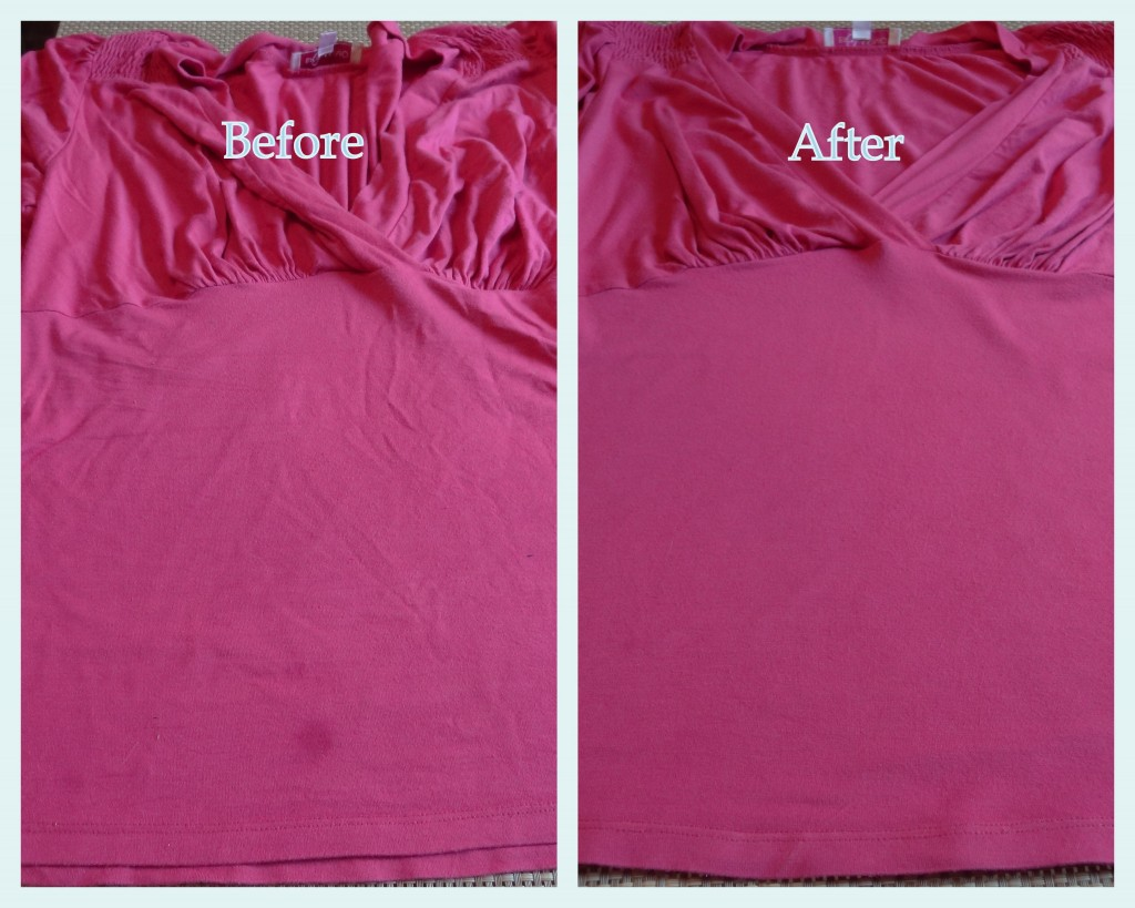 before and after pink top