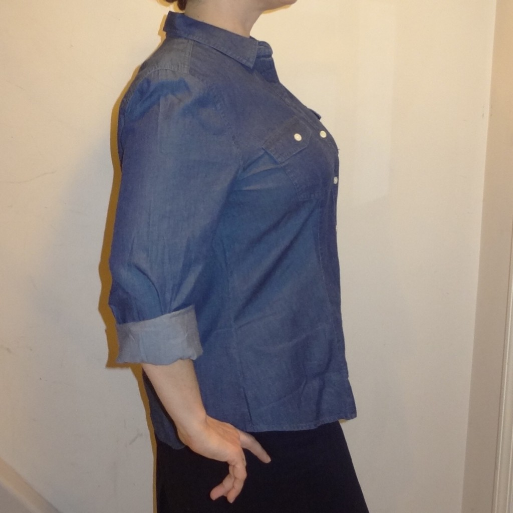 denim shirt plain side show big armholes
