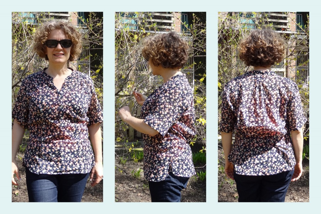 full bust alteration back gathers henley top