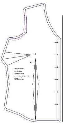 bust and waist dart diagram
