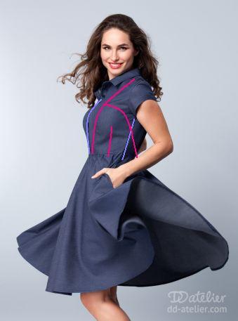 ddatelier denim tennis dress-001