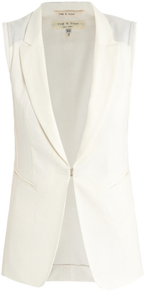 rag and bone sleeveless jacket finn white