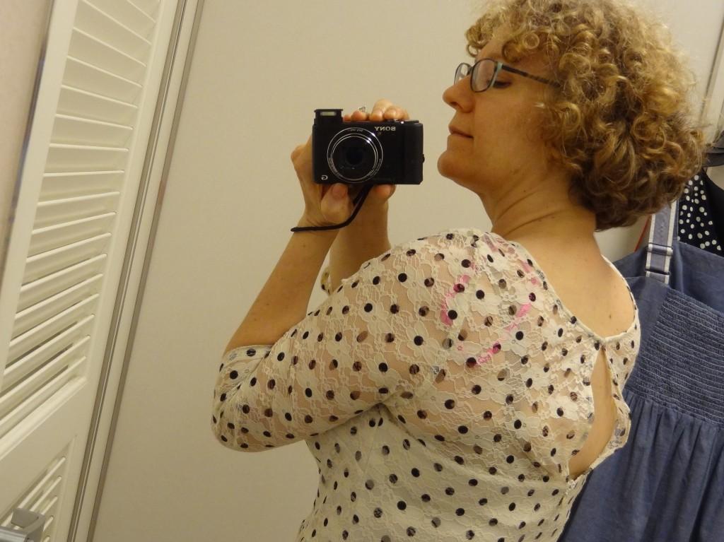 betsey johnson illusion dress back
