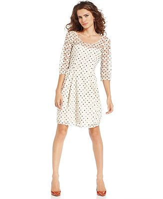 betsey johnson lacy polka dot dress