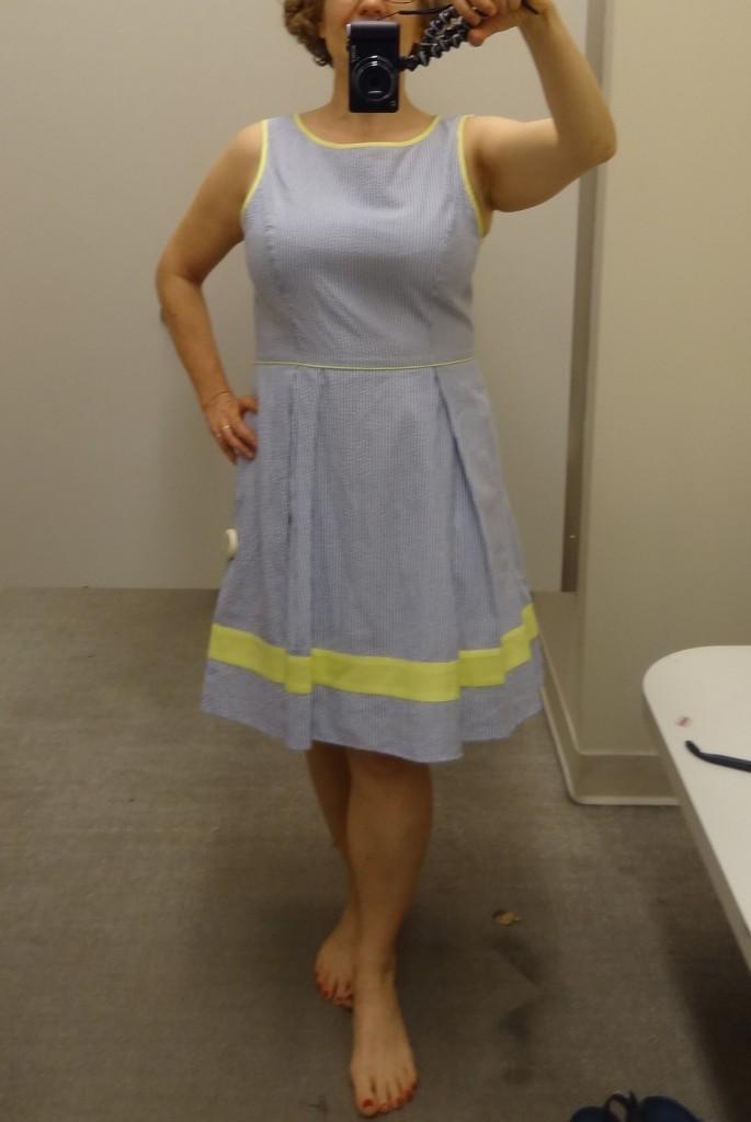 jessica simpson busty seersucker dress