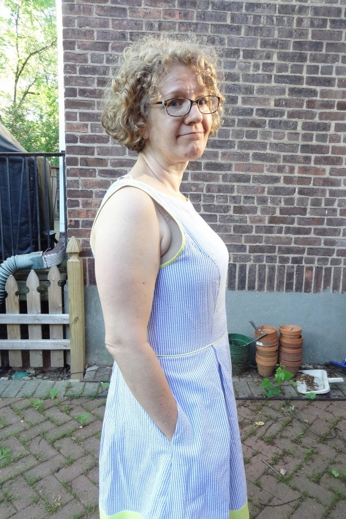 jessica simpson busty seersucker dress too big armhole