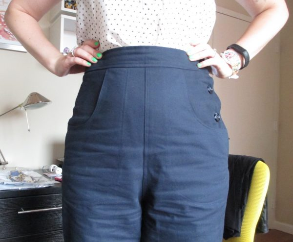 I love the big, swooping front pockets. They give a bit of a nautical feel and are nice and deep for holding my iPhone.