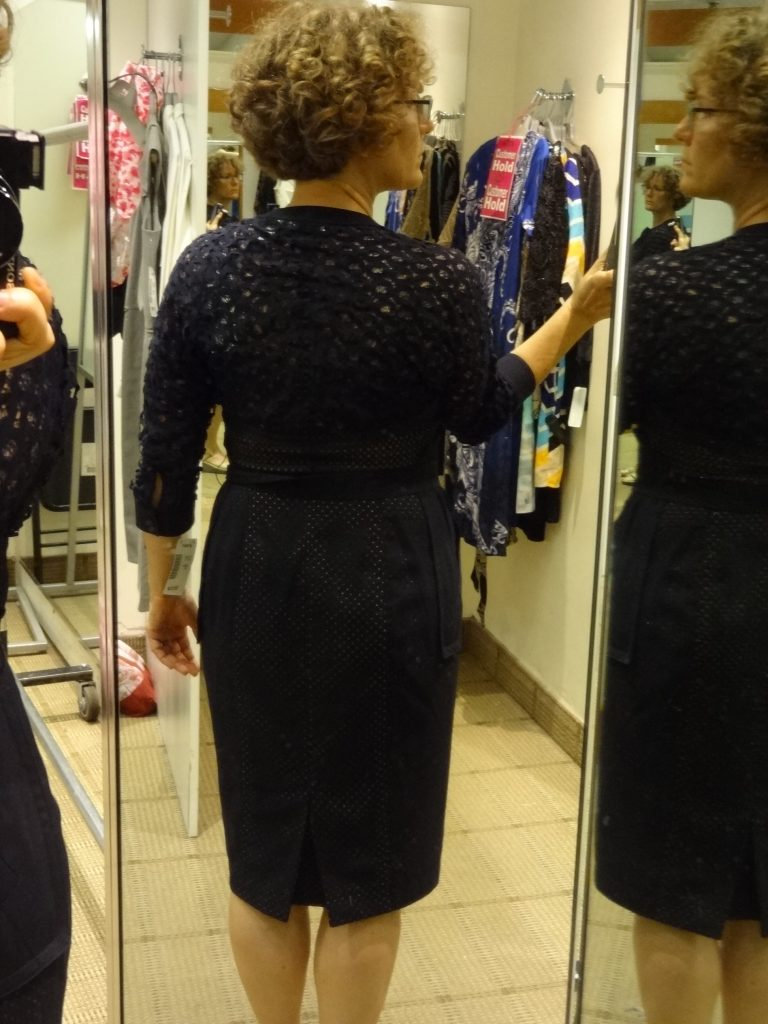 byron lars lazer cut shirt dress full back