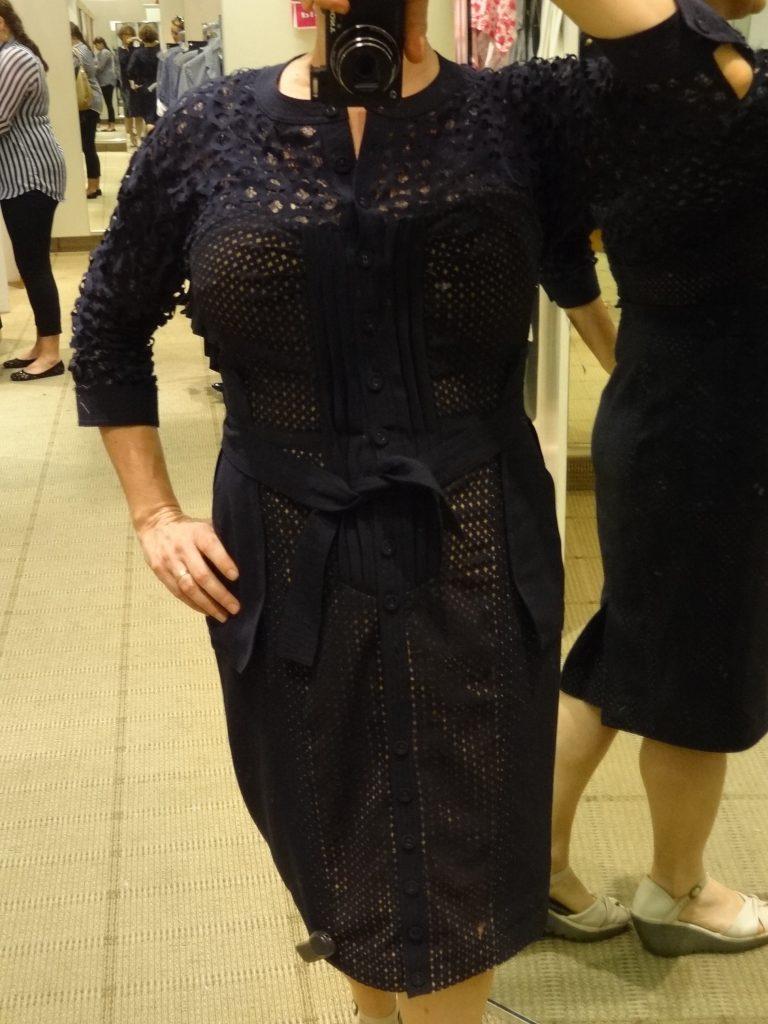 byron lars lazer cut shirt dress full front