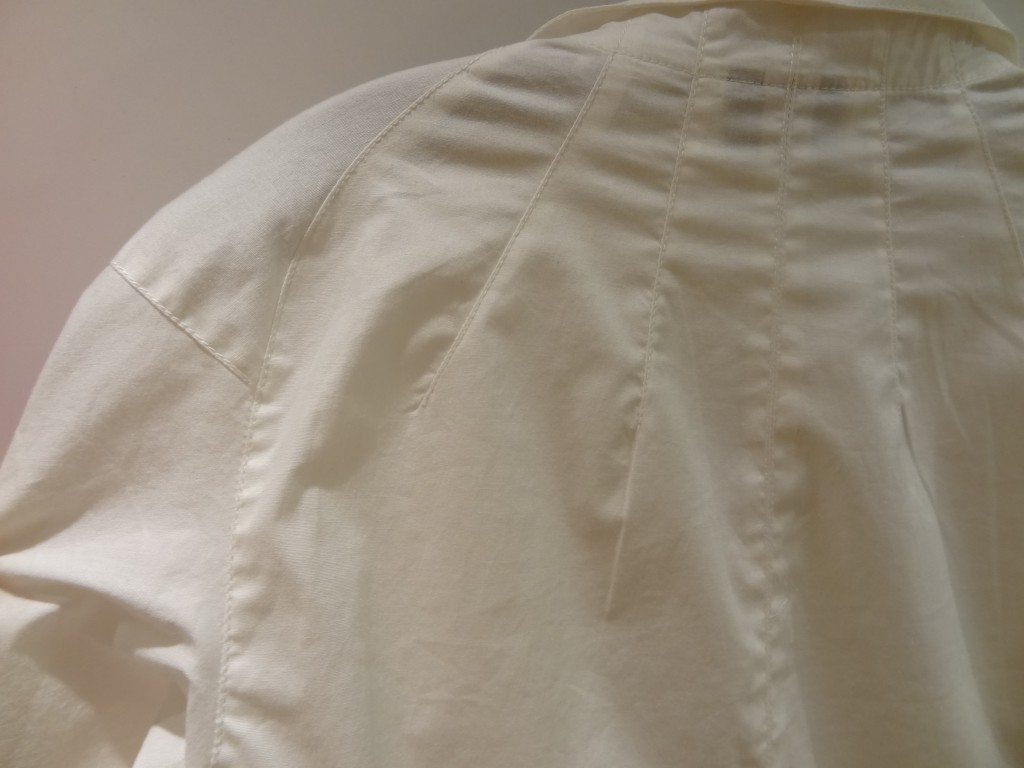 byron lars white blouse shoulder detail