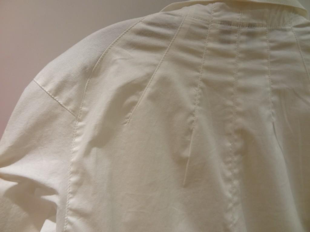 byron lars white blouse shoulder detail