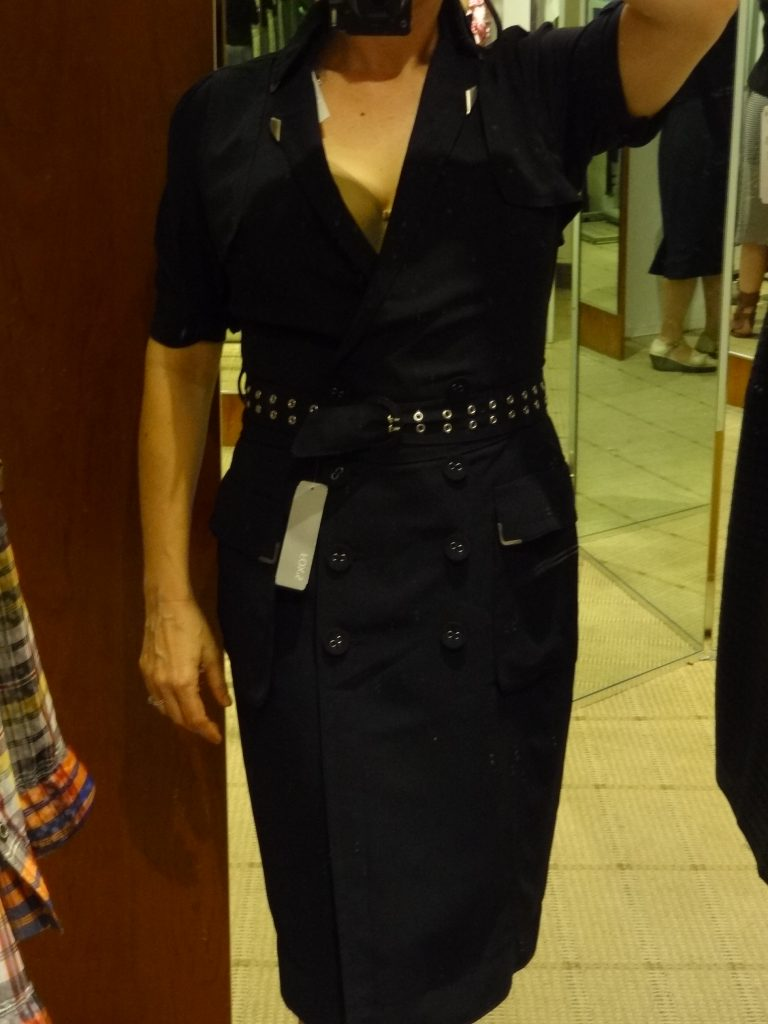 navy backless shirt dress front