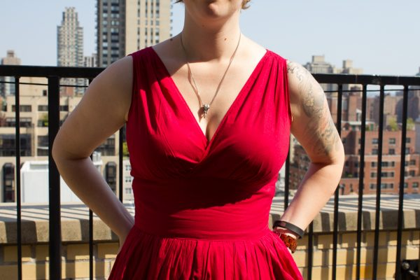 As usual, the bodice is super flattering on a big bust. However...