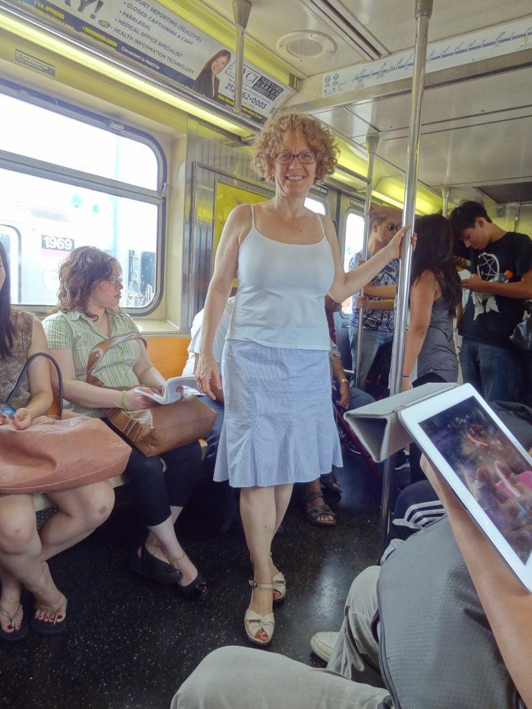 big boob balance with trumpet skirt