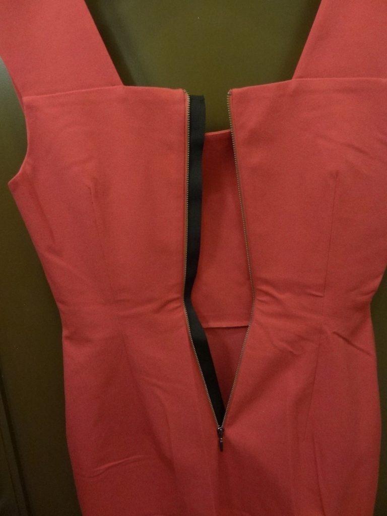 roland mouret pink strappy sheath back zipper