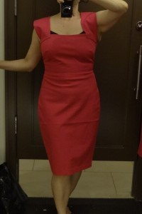 big bust friendly? roland mouret pink strappy sheath front