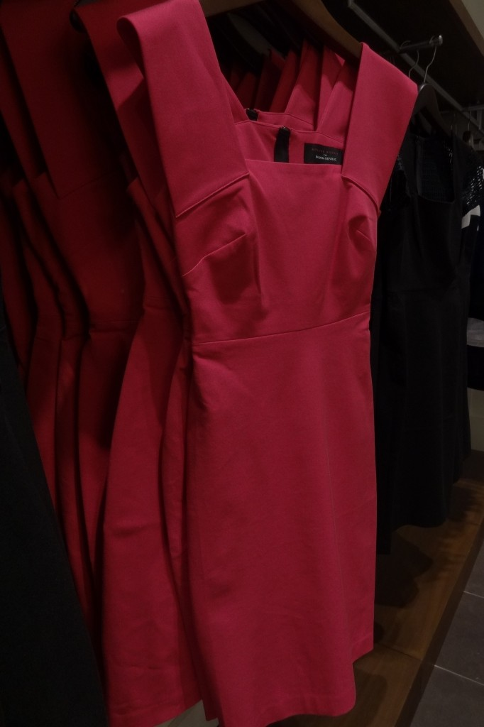 curve friendly? roland mouret pink strappy sheath on hanger