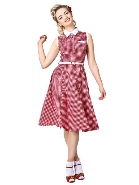 Polly Gingham Shirt Dress