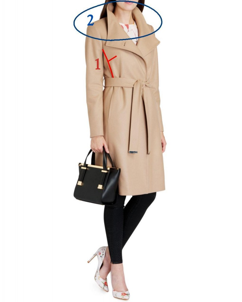 Ted Baker bust friendly nevia belted wrap
