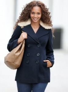 Cosy Collar Pea Coat
